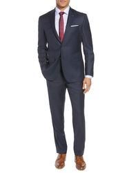 Ted Baker London Jones Trim Fit Solid Wool Suit