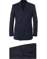 Kingsman Harrys Navy Super 120s Wool And Cashmere Blend Suit