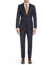 Canali Milano Classic Fit Solid Wool Suit