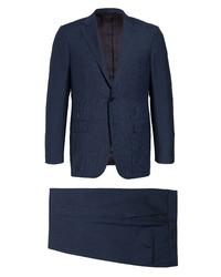 Ermenegildo Zegna Milano Trofeo Classic Fit Wool Blend Melange Suit