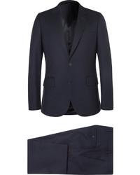 Paul Smith Navy A Suit To Travel In Soho Slim Fit Wool Suit