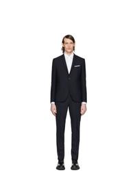 Neil Barrett Navy Fine Travel Suit