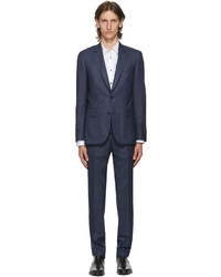 Paul Smith Navy Red Wool Soho Suit
