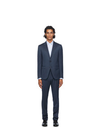 Ermenegildo Zegna Navy Wool And Silk City Suit
