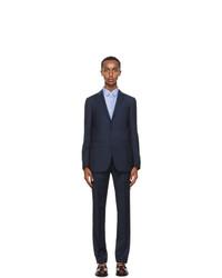 Lanvin Navy Wool Half Canvas Suit