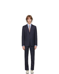 Gucci Navy Wool Straight Fit Suit