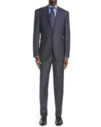 Canali Sienna Soft Classic Fit Solid Wool Suit