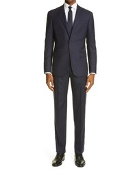Giorgio Armani Slim Fit Navy Wool Suit