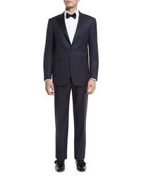 Canali Super 150s Wool Tuxedo Suit Navy