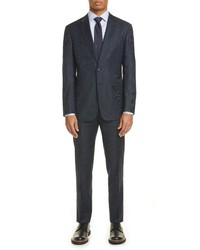 Giorgio Armani Trim Fit Solid Stretch Wool Suit