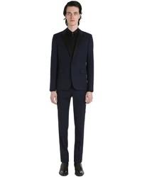Saint Laurent Virgin Wool Gabardine Tuxedo Suit