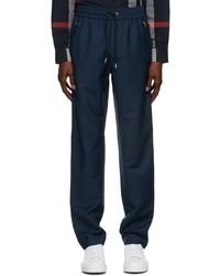 Burberry Blue Mohair Monogram Jogging Lounge Pants
