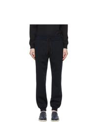 Loro Piana Navy Virgin Wool Holburn Lounge Pants