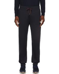 Loro Piana Navy Wool Knit Lounge Pants