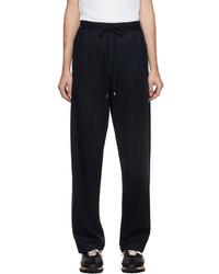 Lanvin Navy Wool Lounge Pants