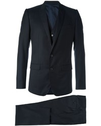 Navy Wool Three Piece Suit
