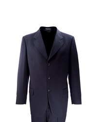 Navy Wool Three Piece Suit