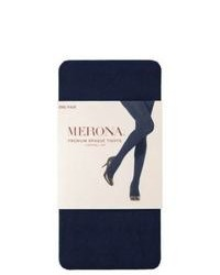 Commonwealth Merona Premium Control Top Opaque Tights Xavier Navy M Tall