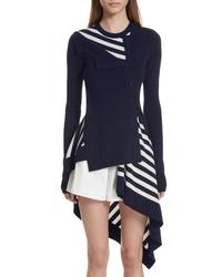 Monse Stripe Twisted Cardigan