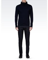 Emporio Armani Turtleneck In Wool And Cotton