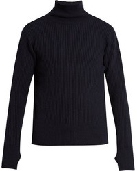 Oliver Spencer Ribbed Roll Neck Wool Sweater