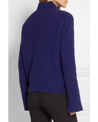 Proenza Schouler Ribbed Wool And Cashmere Blend Turtleneck Sweater ...