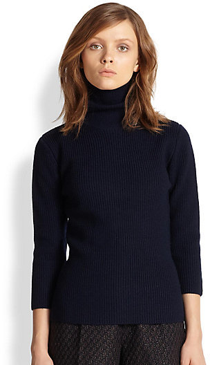 Carven Ribbed Wool Turtleneck Sweater | Where to buy & how to wear
