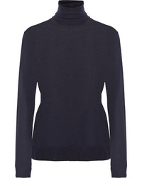 Wool turtleneck sweater midnight blue medium 4393776