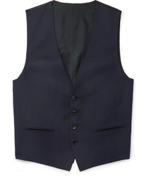 Hugo Boss Blue Wilson Slim Fit Super 120s Virgin Wool Waistcoat