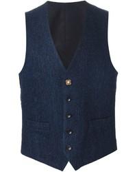 Lardini Herringbone Waistcoat