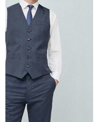 Mango Outlet Prince Of Wales Suit Waistcoat