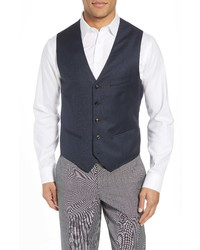 Ted Baker London Troy Slim Fit Solid Wool Vest
