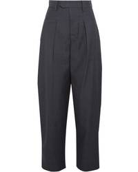 Isabel Marant Mexi Wool Wide Leg Pants Midnight Blue