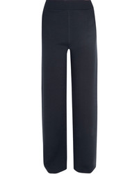 Bottega Veneta Wool Blend Wide Leg Pants Midnight Blue