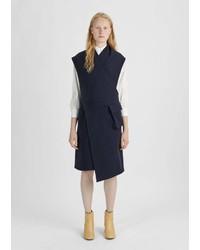 Nehera Boiled Wool Wrap Dress Dark Blue