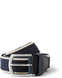 Navy Woven Canvas Belt
