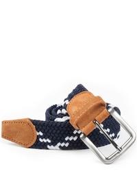The Tie Bar Braided Zig Zag Navy