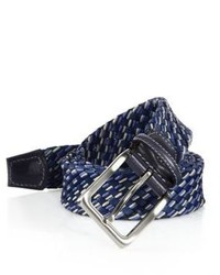 Saks Fifth Avenue Collection Cotton Leather Braided Belt