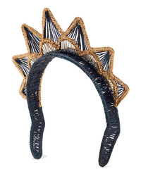 Magnetic Midnight Gold Dipped Woven Straw Headband