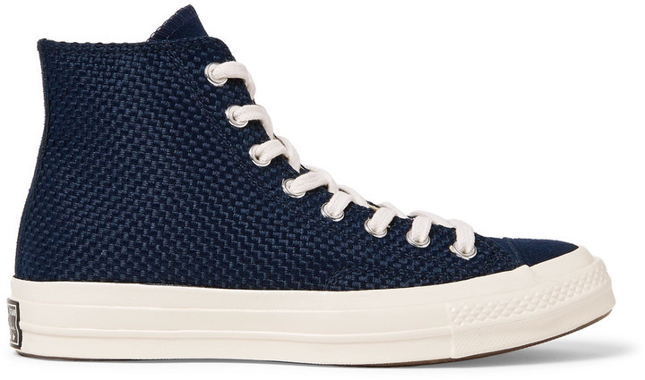 2ab98838ea45 ... Converse 1970s Chuck Taylor All Star Suede Trimmed Woven High Top  Sneakers ...