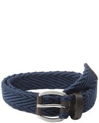 Ben Sherman Herringbone Webbing Leather Belt