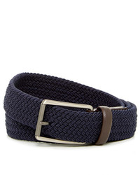 Original Penguin Woven Elastic Leather Belt