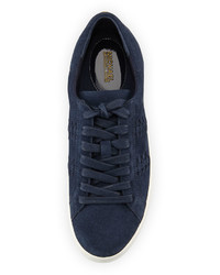30d282f6366e6 ... MICHAEL Michael Kors Michl Michl Kors Stevie Woven Suede Low Top  Sneaker Navy ...
