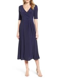 Chaus Laura Faux Wrap Midi Dress