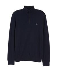Navy Zip Neck Sweater