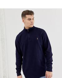 c6e3898a94d ... Polo Ralph Lauren Big Tall Half Zip Cotton Knit Jumper Multi Player Logo  In Navy
