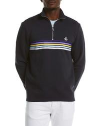 Original Penguin Chest Stripe Quarter Zip Pullover
