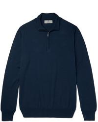 Canali Cotton Half Zip Sweater