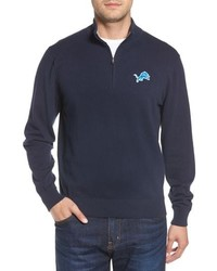 Cutter & Buck Detroit Lions Lakemont Regular Fit Quarter Zip Sweater