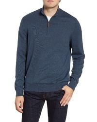 Nordstrom Men's Shop Half Zip Cotton Cashmere Pullover